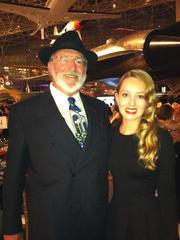 Bruce McCaw (left), a Museum of Flight trustee, and his daughter Skye dressed the part for the Golden Age of Aviation gala at the Museum of Flight.