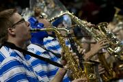The pep band for fired up basketball fans.