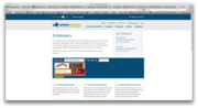 What the employer-specific page for New York's new insurance exchange is supposed to look like.