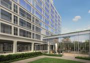 The Bernstein Cos. has submitted new renderings for its Southwest D.C. project. The development has shrunk as the result of a historic designation. This is the north building connection.