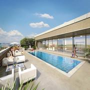 The pool deck atop the Bernstein Cos. north residential tower planned for Southwest D.c.