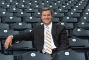 Pittsburgh Pirates President Frank Coonelly sits in the stands on a recent day.