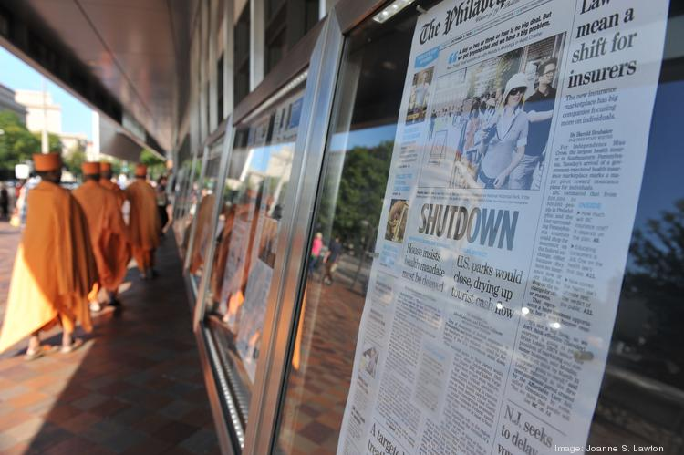 The Newseum displays front pages from across the country from Tuesday, Oct. 1. The museum, which is not associated with the federal government, will remain open daily throughout the federal shutdown.