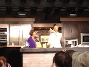 Disney host Pam Smith, left, and Chef Carla Hall from ABC's The Chew presented an interactive culinary demonstration during the Epcot International Food & Wine Festival.
