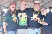 Members of the Salisbury Homebrewers Club cut up at the home-brew tent.