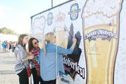 Oktoberfest attendees were asked to sign their names and write their favorite beers on this giant sign.