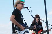 Rick Miller and Mary Huff of Southern Culture on the Skids entertain the crowd at Charlotte Oktoberfest.