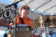 Dave Hartman of Southern Culture on the Skids plays at Charlotte Oktoberfest.