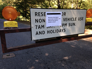 The National Park Service displayed a sign outside Rock Creek Park, announcing its closure throughout the shutdown.