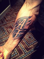 Another one of Hayden's tattoos from the Anytime Fitness annual conference.