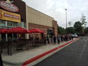 The first 50 guests in line at the new location received a free noodle bowl and a complimentary swag bag.