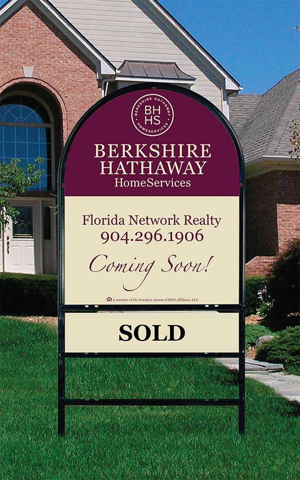 "Prudential Northwest Realty's mainstay blue-and-white ""for sale"" signs will become a thing of the past. In their place will be the cabernet-and-cream signage of Berkshire Hathaway HomeServices."