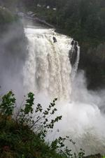Weekend storms turn Snoqualmie Falls into a thunderous cascade