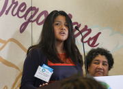 """Jackie Vargas of Northwest Family Services said community partners like her group will """"help people enroll, so Oregonians have an easy and smooth experience."""""""