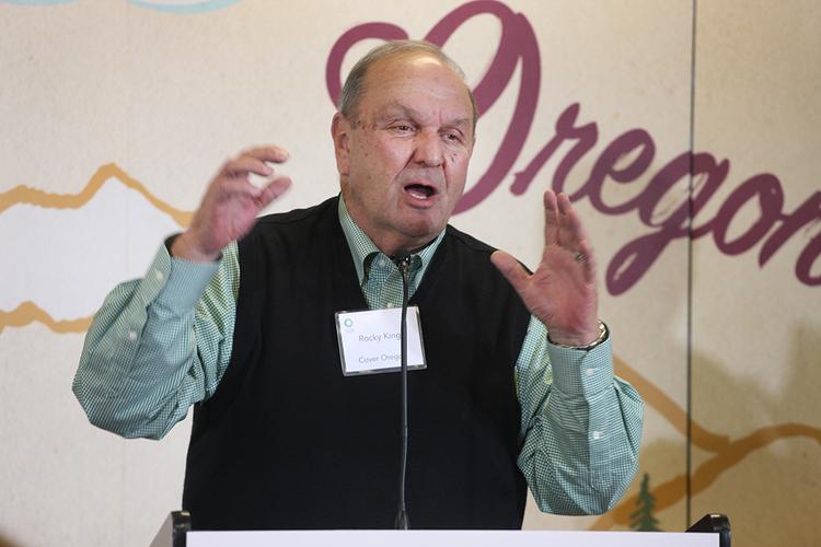Cover Oregon Executive Director Rocky King asks people to be patient with the website while the bugs are worked out.