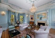 One of the living rooms at 211 Commonwealth Ave. in Boston's Back Bay.