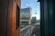 A view of the Portland Aerial Tram and OHSU's Center for Health and Healing from The Emery, a 118-unit residence that opened over the weekend. The Emery is the first project in Zidell Yards, a 33-acre mixed-use development proposed by the family that owns Zidell Marine.