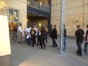Fans entering PNC Park on Tuesday evening.