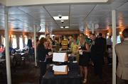 Guests enjoy the buffet at the BizMix on the Gateway Clipper.