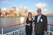 Jen Steinsdoerfer of the Leukemia & Lymphoma Society, left, and Andy Birol of Birol Growth Consulting LLC.