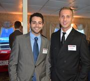 Dominic Janidas, event sales supervisor at Phipps Conservatory and Botanical Gardens, left, and Luke Lunberg of S&T Bank.