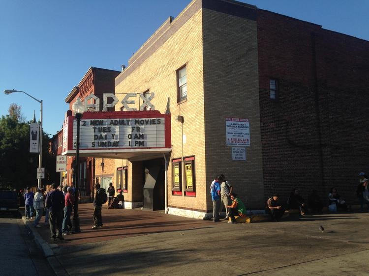 The Apex Theatre, the last adult theater in Baltimore, is for sale.