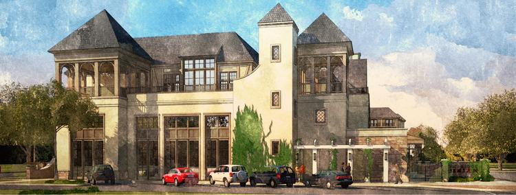 Rendering of the Grand Bohemian Hotel planned for Lane Parke in Mountain Brook.