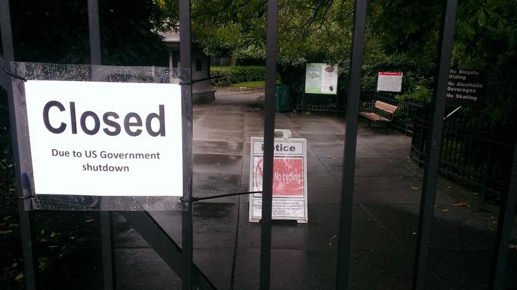 The U.S. Army Corps of Engineers on Oct. 1 closed the park surrounding the Hiram M. Chittenden Locks in Seattle's Ballard neighborhood for lack of operating funds because of the impasse in Congress