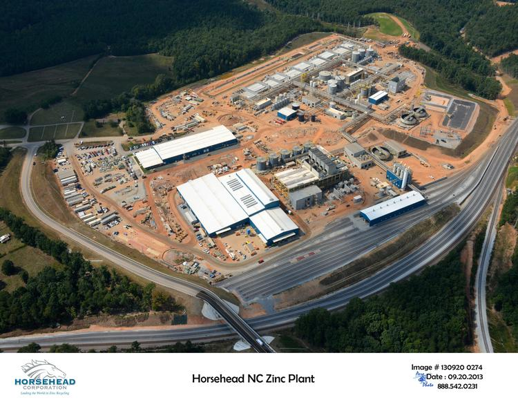 The soon-to-open zinc plant is located about 50 miles west of Charlotte.