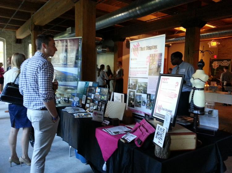 Retail Rally attendees visited booths from sponsors, including Retailworks Inc. and several financial institutions.