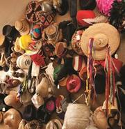 A view of Geisel's hat collection.