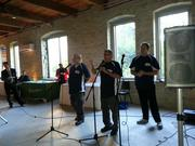 ComedySportz entertained the crowd at Rail Hall, the new events venue in Walker's Point.
