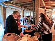 Attendees enjoyed food from Savory Catering, a client of organizer Wisconsin Women's Business Initiative Corp.