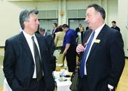 Lou Oliva, left, of Newmark Grubb Knight Frank and Steve Morgan of the Community College of Beaver County