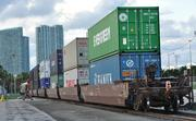 Containers will be double stacked, which cuts down on train lengths.