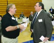 Dave Taormina, left, of Drill Baby Drill Staffing and Steve Arciuolo of The Buncher Co.