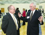 John Hummel, left, of L.R. Kimball and Bob Rimbey of the Beaver County Corporation for Economic Development