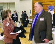 Margaret Baker of Margaret Ringel & Associates and Marvin Korinek of ISM Services Inc.