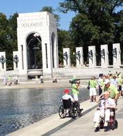 The National Park Service did allow a group of World War II veterans from Chicago to visit the World War II Memorial.