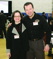 Julie Polletta of Radelet McCarthy Polletta Architects and Interior Designers and Robert Hugh Harper of Cafe Kolache.