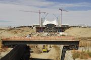 A hotel and transit center are under construction at DIA.