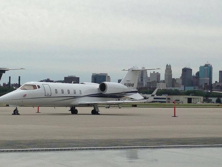 An Executive AirShare aircraft sits on the tarmac at Charles B. Wheeler Downtown Airport in Kansas City where the Midwest Business Aviation Showcase will take place on Oct. 10.