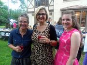 Monica Pope poses with dinner guests Melanie Campbell and Sarah Sorenson.
