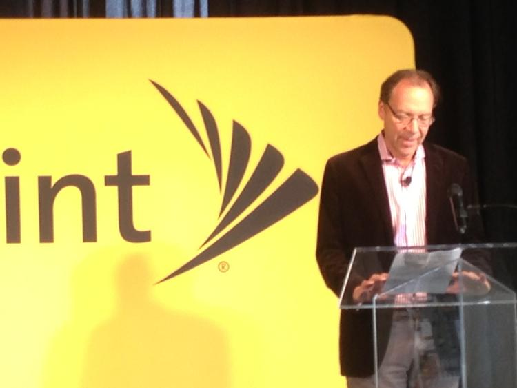 Sprint Corp. CEO Dan Hesse recently spoke at an event announcing the company's new accelerator location in the Crossroads Arts District.