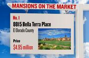 No. 1. 8815 Bella Terra Place, Granite Bay, with an asking price of $4.95 million. The home, listed by Lyon, has 6 bedrooms, 7 full bathrooms and 1 half bathroom. It is 13,690 square feet on 2.3 acres.