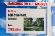 No. 12 (tie). 6816 Stanley Ave., Carmichael, with an asking price of $3.00 million. The home, listed by Lyon, has 5 bedrooms, 4 full bathrooms and 0 half bathrooms. It is 3,814 square feet on 1.97 acres.