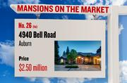 No. 26 (tie). 4940 Bell Road, Auburn, with an asking price of $2.50 million. The home, listed by Coldwell Banker, has 5 bedrooms, 6 full bathrooms and 3 half bathrooms. It is 6,250 square feet on 20.37 acres.