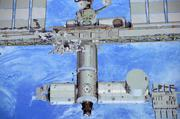 The Atlantis display joins the other Visitor Complex exhibits and displays celebrating the history of space travel. This high-resolution mural of the International Space Station is viewable on the grounds.