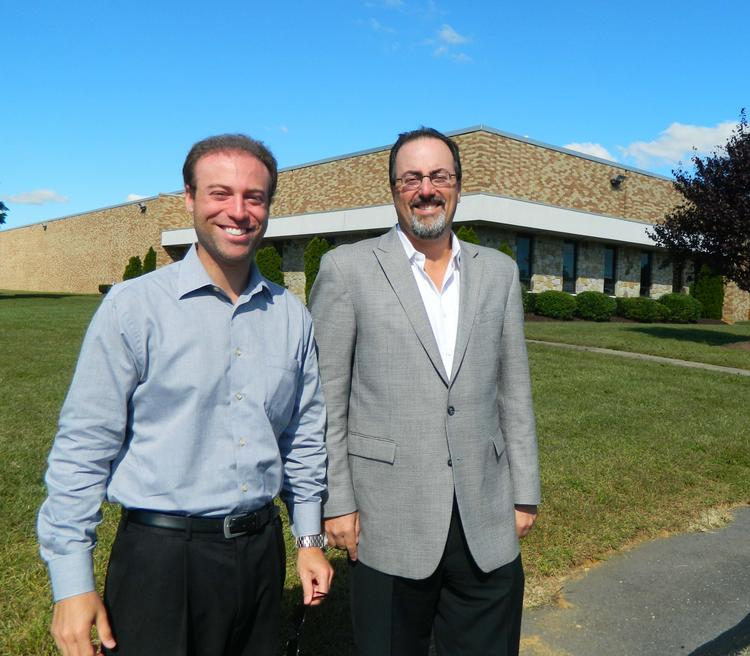 Ian Richman and Marc Isdaner of Colliers International at 180 Heller Place in Bellmawr, N.J.