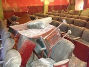 A pile of dusty old seats in the Strand Theater